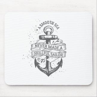 Nautical motivational sailor quote mouse pad