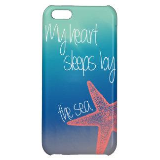 "Nautical ""My heart sleeps by the sea"" starfish iPhone 5C Case"
