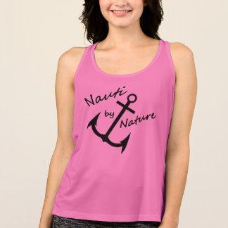 Nautical Nauti Girl Hot Pink Sport Tank Top