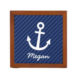 Nautical Navy Anchor Desk Organizer