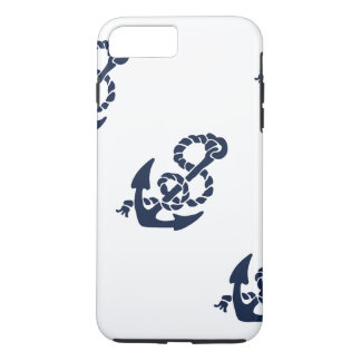 Nautical Navy Anchor Pattern iPhone 7 Plus Case
