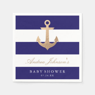 Nautical Navy Baby Shower Disposable Napkin