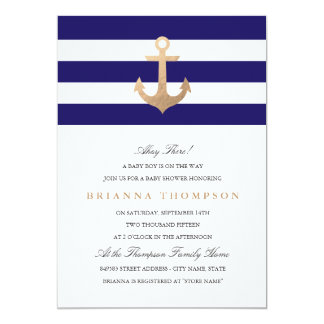 Nautical Navy Baby Shower Invitation