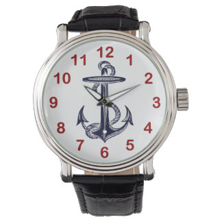 Nautical Navy Blue Anchor Watch