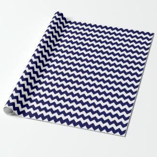 Nautical Navy Blue and White Zigzag Chevron Stripe