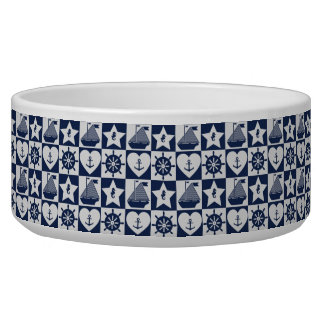 Nautical navy blue white checkered