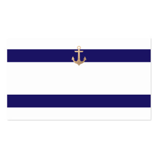 Nautical Navy Guest Table Escort Cards Pack Of Standard Business Cards
