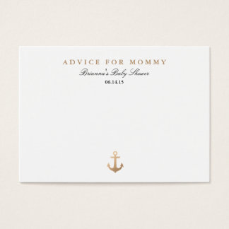 Nautical Navy | Mommy Advice Cards