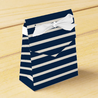 Nautical Navy Stripes Favor Box