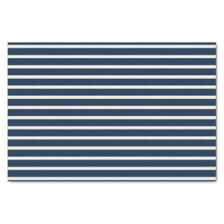 Nautical Navy Stripes Tissue Paper