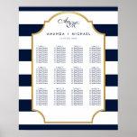 Nautical Navy | White Wedding Seating Chart