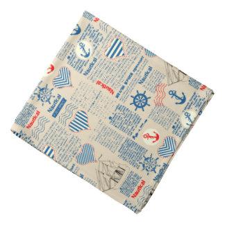 Nautical Newspaper Pattern Kerchiefs