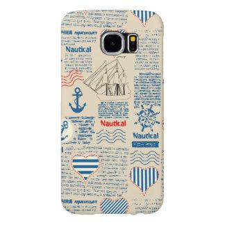 Nautical Newspaper Pattern Samsung Galaxy S6 Cases