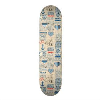 Nautical Newspaper Pattern Skate Board Decks