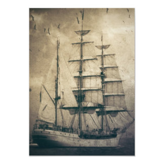 Nautical Ocean Sea Vintage Sailing sailboat Card