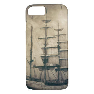 Nautical Ocean Sea Vintage Sailing sailboat iPhone 8/7 Case