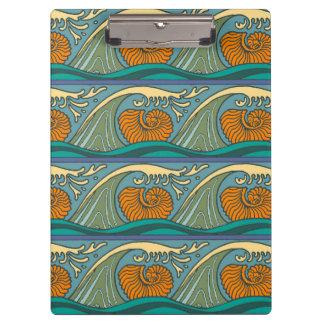Nautical Ocean Wave pattern Clipboard