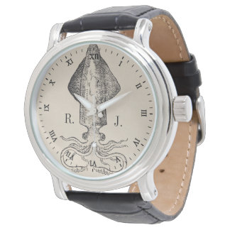 Nautical Octopus Personalized Monogram Watch