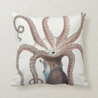 Nautical Octopus/Squid Design/Decor Throw Pillow