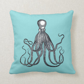 Nautical Octopus Throw Pillow