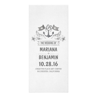 nautical painted anchor wedding programs