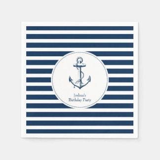 Nautical Party Napkins Paper Napkins