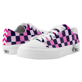 Nautical Patchwork Shoes Navy/Pink