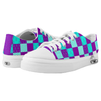 Nautical Patchwork Shoes Purple/Teal