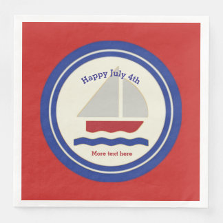 Nautical  Patriotic Paper Napkins