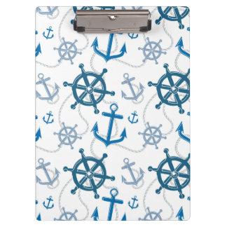 Nautical pattern clipboard