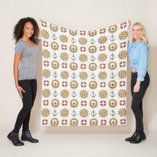 Nautical Pattern fleece blankets