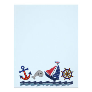 Nautical Pattern Letterhead