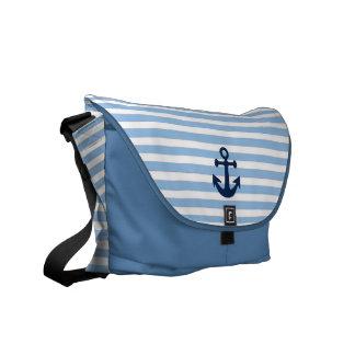 nautical pattern messenger bag