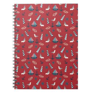 Nautical Pattern Notebooks