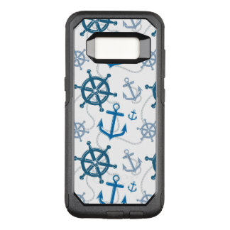 Nautical pattern OtterBox commuter samsung galaxy s8 case