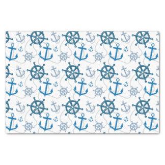 Nautical pattern tissue paper