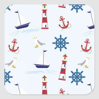 Nautical Patterned Sailboat Stickers