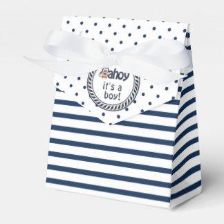 Nautical Penguin Boy's Baby Shower Wedding Favor Box