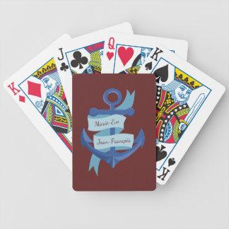 Nautical Personalize Anchor Destination Wedding Poker Deck