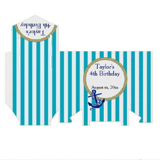 Nautical Personalized Birthday Party Favor Boxes