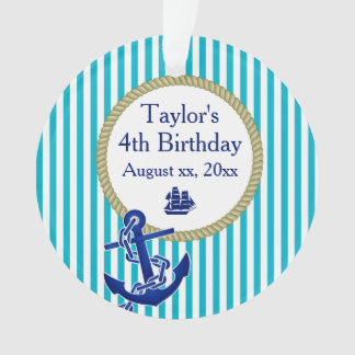 Nautical Personalized Birthday Party Ornament