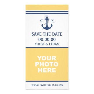 Nautical Photo Save the Date Photo Card Template
