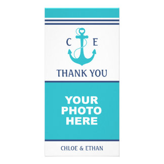 Nautical Photo Thank You Personalized Photo Card