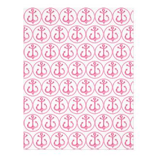 Nautical Pink Anchors Scrapbook Paper