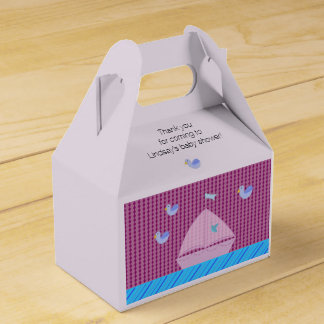 Nautical Pink Sailboat Party Favor Boxes