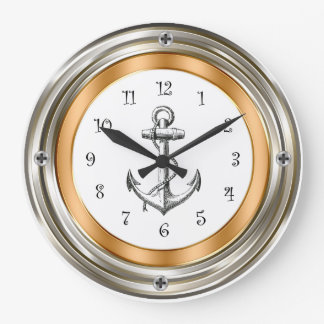 Nautical Porthole Design Wall Clocks