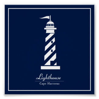 Nautical Poster with Lighthouse - Customize Text