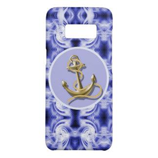 nautical preppy ocean purple blue waves anchor Case-Mate samsung galaxy s8 case