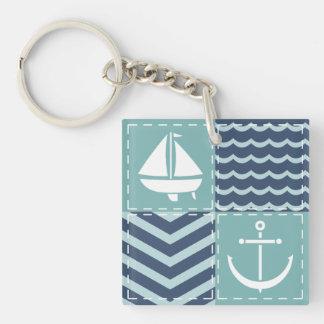 Nautical Quilt Acrylic Keychain