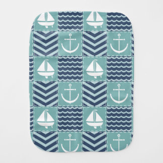 Nautical Quilt Burp Cloth